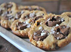 Peanut Butter Rolo Cookies.