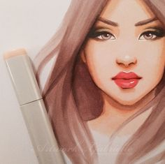 Copic sketch discovered by ↠ melancholia ↞ on We Heart It Copic Marker Drawings, Sketch Markers, Copic Markers, Copic Art, Copic Sketch, Face Sketch, Poses References, Poster S, People Art