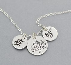 Personalised Tree of Life Necklace for Mom. Gorgeous Irish made gifts. Unique gift ideas for the baby shower, newborn baby, or Christening.