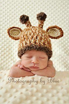 Newborn Baby Crochet Hat Patterns | ... ://wanelo.com/p/3095679/newborn-baby-crochet-giraffe-hat-photo-prop