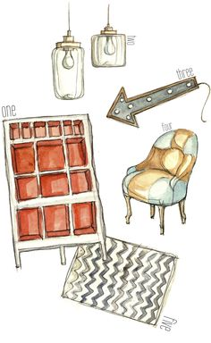 Watercolor + decor =  :)
