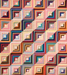 Log Cabin Quilt stripes