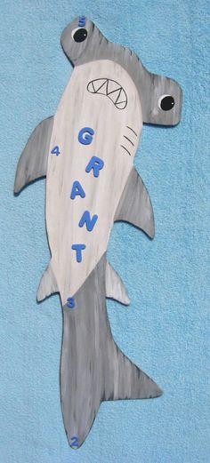 Hammerhead Shark Growth Chart  Eco Friendly  Wood by BirchTreeKids,