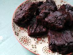 Gezonde brownies met courgette! Super lekker.