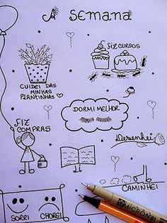 Minha semana {gostosa e tranquila} Doodle Drawings, Zentangles, Tangled, Mandala, Doodles, Bullet Journal, Character, Craft Tutorials, Bears