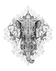 Elephant tattoos - Mandala Designs 2019 Express Yourself With Gorgeous Graphics – Elephant tattoos Bild Tattoos, Leg Tattoos, Body Art Tattoos, Tattoo Drawings, Tattoo Art, Hand Tattoo, Full Sleeve Tattoos, Tatoos, Elephant Head Tattoo