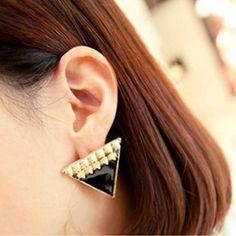 Min order 10USD E330 fashion all-match fashion rivet trigonometric oil stud earring Free shipping Jewelry on AliExpress.com. $0.72