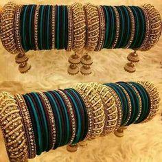 'Designer pulseiras & Bangles s Silk Thread Bangles Design, Silk Bangles, Bridal Bangles, Thread Jewellery, Bridal Jewelry, Silver Bracelets, Bangle Bracelets, Gold Jewellery, Silver Ring