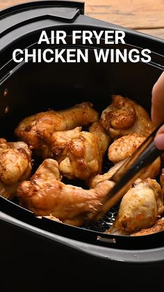 Air Fryer Recipes Chicken Wings, Air Fryer Oven Recipes, Air Frier Recipes, Air Fryer Dinner Recipes, Chicken Thigh Recipes, Chicken Wings Airfryer, Air Fryer Recipes Videos, Air Fryer Fried Chicken, Chicken Recipes For Kids
