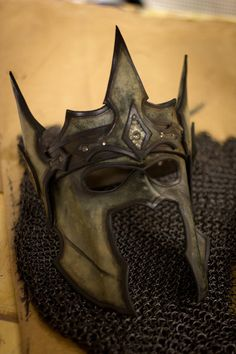 Crown of the Warrior King Handmade Leather Mask by OsborneArts Larp, Cosplay, Character Inspiration, Character Design, Steampunk, Armadura Medieval, Leather Mask, Beautiful Mask, Masquerade Ball