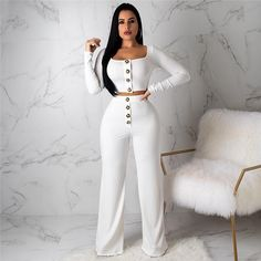 d26e652b2 Buy Autumn Sexy Jumpsuits Strapless Loose Slash Neck Rompers Womens  Jumpsuit 2019 Club Casual Wide leg