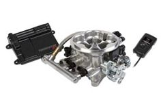 Holley Terminator™ EFI 4bbl Throttle Body Fuel Injection System - Tumble Polished $2000