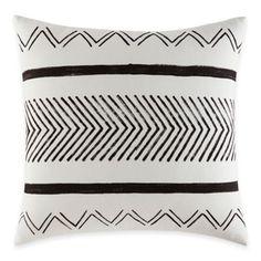 ED Ellen DeGeneres Mombasa European Pillow Sham in White - BedBathandBeyond.com