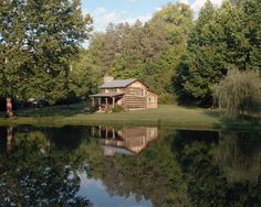 Log Cabin and Mill Pond