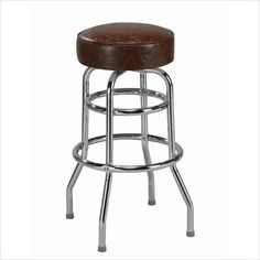 Regal Elite Double Ring Heavy Duty Backless Bar Stool with Chrome $119.99