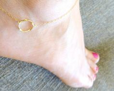 Valentine's Day Gift, Eternity Anklet, Gold Anklet