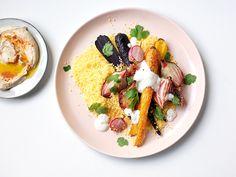 Gele couscous met geroosterde groenten van ZTRDG