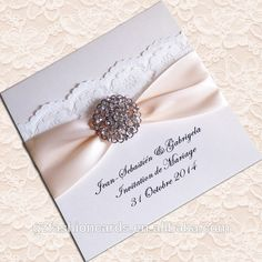 boxed luxurious on invitation home alibaba com item flocked from aliexpress garden with group in cards rhinestone wedding invitations brooch