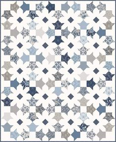 Blossom and Flower Patch Blossoms Patterns – Planted Seed Designs Two Color Quilts, Blue Quilts, Star Quilts, Scrappy Quilts, Quilt Blocks, Patchwork Quilting, Quilting Projects, Quilting Designs, Quilting Ideas