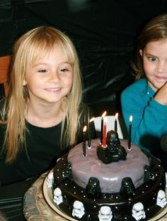 Star Wars Cake.  And another little girl that like Star Wars!!