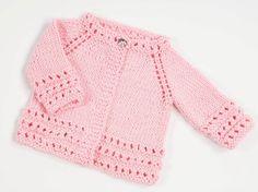 Top Down Free Baby Cardigan Knitting Pattern