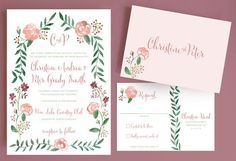 watercolor-flower-wedding-invitation-with-flower-border-and-monogram-watercolor-rose.jpg (570×389)