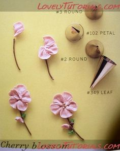 Buttercream cherry blossoms tutorial by tracey