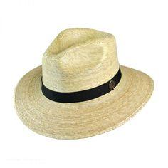 Explorer Palm Straw Safari Fedora Hat bdfc016888a2