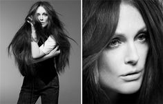Really lovely portraits of Julianne Moore. And her hair.