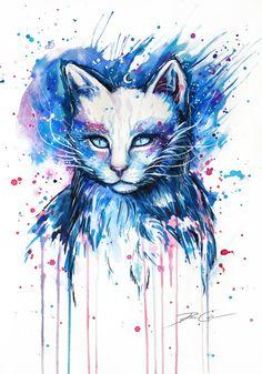 Espace chat - signé Art Print