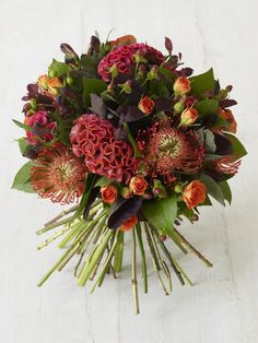 No Thanksgiving table is complete without a beautiful bouquet of flowers or two. Here are 16 flower arrangements to try this Thanksgiving—and where to order them. Fall Bouquets, Fall Wedding Bouquets, Fall Wedding Flowers, Fall Flowers, Floral Bouquets, Bridal Bouquets, Gerbera Wedding, Purple Bouquets, Bridesmaid Bouquets