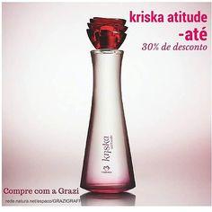 Segunda é dia de Desconto? Kriska Atitude, floral, desconto, fragrância leve,embalagem de vidro. Certo que SIM!