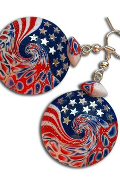 These earrings are an expression of my love for the United States. For a country in which I have never been there, but which I am grateful for the many things that made my life better and more interesting :) https://www.etsy.com/listing/286980973/usa-independence-day-american-4th-of