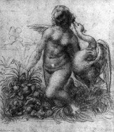 Leonardo Da Vinci-Leda and the Swan