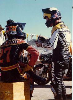 Skip Aksland and Kenny Roberts