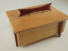 Zen-Like Wooden Box with Asian Flair by WildatHeartWood on Etsy