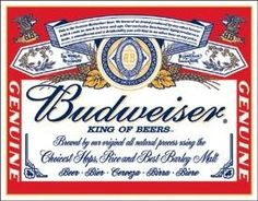 Budweiser Label Tin Sign is a brand new vintage tin sign made to look vintage, old, antique, retro. Purchase your vintage tin sign from the Vintage Sign Shack and save. Beer Signs, Tin Signs, Wall Signs, Cave Bar, Blood Bowl, Decorative Signs, Metal Tins, Vintage Advertisements, Sodas