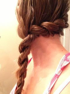 Bohemian Twist Braid  - braid made just by twisting your hair