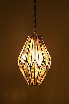 Aisai Pendant Lamp - Lit up view Entryway Lighting, Loft Lighting, Pendant Lighting, Pendant Lamp, Stained Glass Lamps, Stained Glass Designs, Chandeliers, Sweet Home Design, Art Deco Design