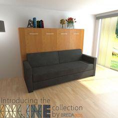 Horizontal InLine Murphy Bed And InLine Sofa