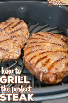 We are sharing how to grill the perfect steak! Whether you're using your outdoor grill or Ninja Foodi Grill indoors, get your steak exactly how you want it! Healthy Grilling Recipes, Grilled Steak Recipes, Grill Recipes, Grilled Hamburgers, Steak Cooking Times, Cooking On The Grill, Cooking Tips, Grilling The Perfect Steak, How To Grill Steak