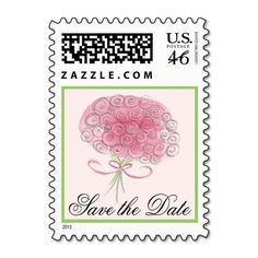 Elegant Save the Date Wedding Postage Stamp