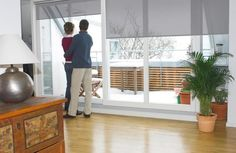 Energy saving tip: During the colder months, open south facing window shades/blinds during the day and close window shades/blinds at night to keep the heat in. http://www.budgetblinds.com/window-shades/somfy-motorized-shades/