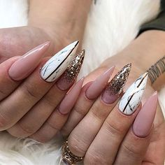 Cute Stiletto Nails With Matte Accents. If you are a passionate lover of a matte finish, have a look at these matte and cute stiletto nails. 38 classy acrylic stiletto nails designs for summer 2018 art design on nails Gorgeous Nails, Love Nails, My Nails, Glitter Nails, Gold Glitter, Acrylic Nail Designs, Nail Art Designs, Acrylic Nails, Nails Design