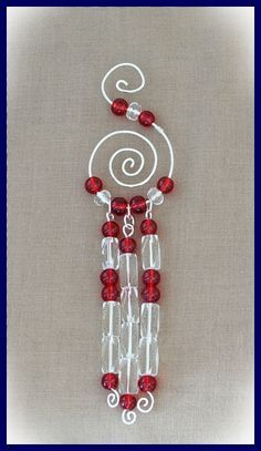 Free Beaded Christmas Ornament Patterns | Free Tutorial for Wire and Bead Christmas Ornament http://lorifellows ...