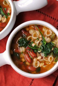 Veggie minestrone soup