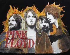 PINK FLOYD T-shirt Artistic Painted Art To Wear Rock Tshirt