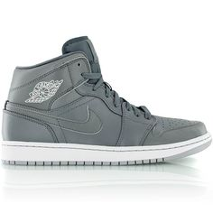 jordan AIR JORDAN 1 MID COOL GREY/CL GRY-WHITE-WLF GRY