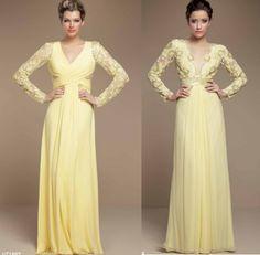Madrinhas de casamento: Vestidos de festa amarelo