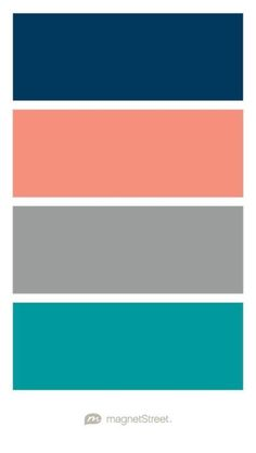 Navy C Custom Gray And Teal Wedding Color Palette Created At Magnetstreet